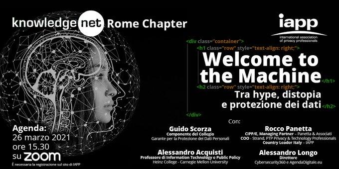 Welcome to the Machine – Tra hype, distopia e protezione dei dati